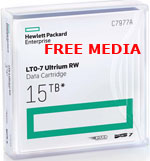 5 FREE HP LTO-7 Tape media with purchase of 50 or more C7977A