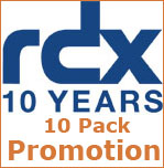 RDX 10 Pack Promotion - celebrating 10 Years of RDX Technology