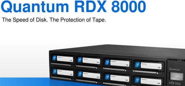 Quantum RDX 8000 8TB ISCSI Disk Based Library