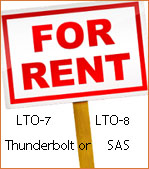 LTO Tape Drives for Rent - LTO-7 and LTO-8 Thunderbolt or SAS