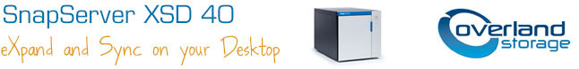 SnapServer XSD 40 Desktop NAS by Overland Storage 4 Bay Tabletop Storage