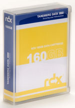 Tandberg Data RDX QuikStor 160GB - Removable Disk Cartridge Part # 8458-RDX with Accuguard