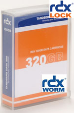 Tandberg Data RDX 320GB WORM Media with rdxLOCK Software Part# 8657-RDX