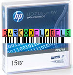 FREE Custom Sequence HP LTO-7 Barcode Labels w/min. purchase of 20 or more HP LTO-7 Data Cartridges C7977A-BCL