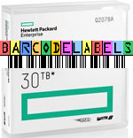 FREE Custom Sequence HP LTO-8 Barcode Labels w/min. purchase of 20 or more HP LTO-8 Data Cartridges Q2078A-BCL
