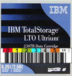 FREE Custom Sequence IBM LTO-6 Barcode Labels w/min. purchase of 20 or more IBM LTO-6 Data Cartridges 00V7590-BCL