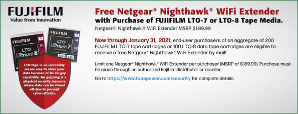 Fuji Free Wifi extended promotion with purchase of LTO-7 media
