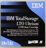 IBM LTO-5 Ultrium Data Cartridge 1.5 TB / 3.0 TB LTO Ultrium-5 Tape Part # 46X1290