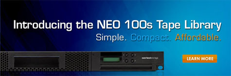 Introducing the NEW Overland NEO 100s Tape Library - 9-Slot 1u LTO-4/LTO-5 Autoloader