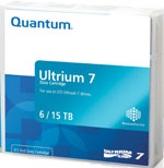 Quantum LTO-7 Utrium Tape Cartridge 6TB Native / 15TB Compressed LTO7 Tape Part# MR-L7MQN-01