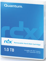 Quantum RDX 1TB Removable Disk Cartridge Part # MR100-A01A (Dell RD1000 compatible)
