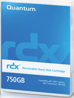 Quantum RDX 750GB Removable Disk Cartridge Part # MR075-A01A