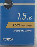 Dell RD1000 1.5TB Cartridge (1.5TB Native/ 3TB Compressed) RDX - Removable Disk Storage Part# 02PN6C