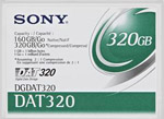 DGDAT320 SONY DAT 320 Data Cartridge DGDAT320 Tape, 4mm DAT 320,160/320GB  DAT320